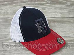 Стильная мужская кепка, бейсболка, вышивка логотипа, сетка, размер 56-58, на резинке, фото 2