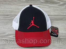 Стильная мужская кепка, бейсболка, вышивка логотипа в стиле Jordan (реплика), сетка, размер 56-58, регулятор, фото 2