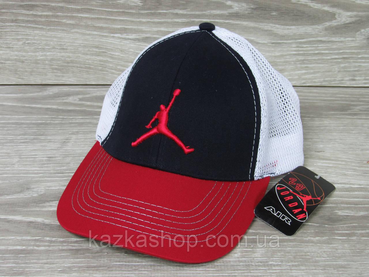 Стильная мужская кепка, бейсболка, вышивка логотипа в стиле Jordan (реплика), сетка, размер 56-58, регулятор
