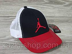 Стильная мужская кепка, бейсболка, вышивка логотипа в стиле Jordan (реплика), сетка, размер 56-58, регулятор, фото 3