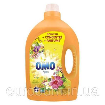 OMO парфумований гель для прання універсальний Тропічні квіти і бергамот 2 л 40 прань (Нідерланди), фото 2