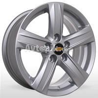Литые диски Storm YQR-054 R15 W6 PCD5x105 ET39 DIA56.6 (silver)