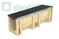 Комплект: Полимербетонный лоток серии Maxi DN300 с чугунной решеткой кл. Е