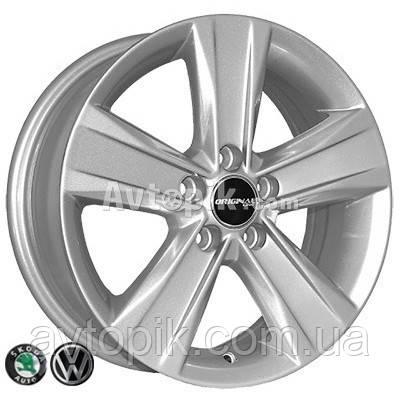 Литые диски Replica Skoda (492) R14 W6 PCD5x100 ET38 DIA57.1 (silver)