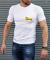 Белая мужская футболка Off White принт