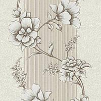 Обои , обои на стену , виниловые на бумажной основе Зара декор ВКП 2-0901 светло-оливковый (0,53х10,05м.)