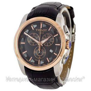 Часы мужские Tissot реплика T-Classic Couturier Chronograph Black-Gold-Black