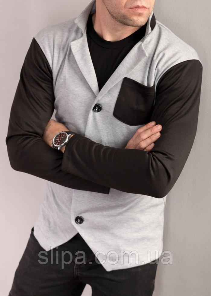 Кардиган мужской черно-серый