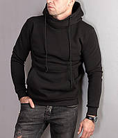 Чоловіча толстовка утеплена з широким коміром-хомут, фото 1