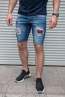 """Мужские джинсовые шорты """"Red"""" синего цвета"""