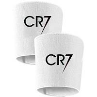 Держатели  фиксаторы (Тейпы) для щитков белые CR7 Роналдо реплика