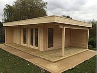 Дом деревянный из профилированного бруса 5х8. Кредитование строительства деревянных домов