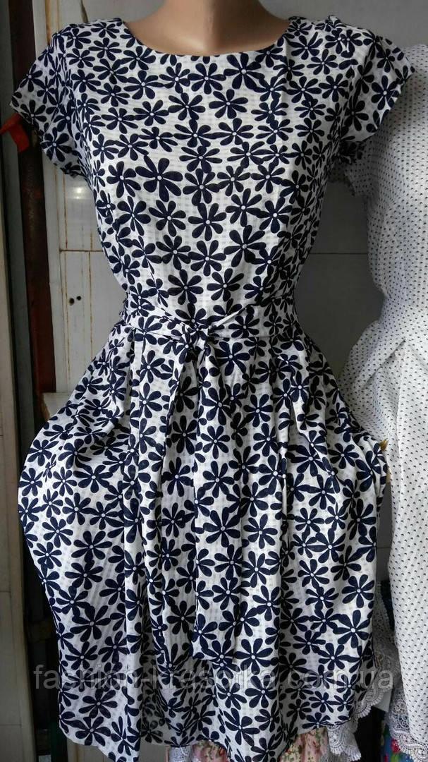 Модное  женское летнее платье,ткань полированный штапель,размеры:44,46,48,50.