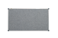 Доска текстильная, в алюминиевой рамке S-line – 1200x900 мм; код – 159012 (серая), фото 1