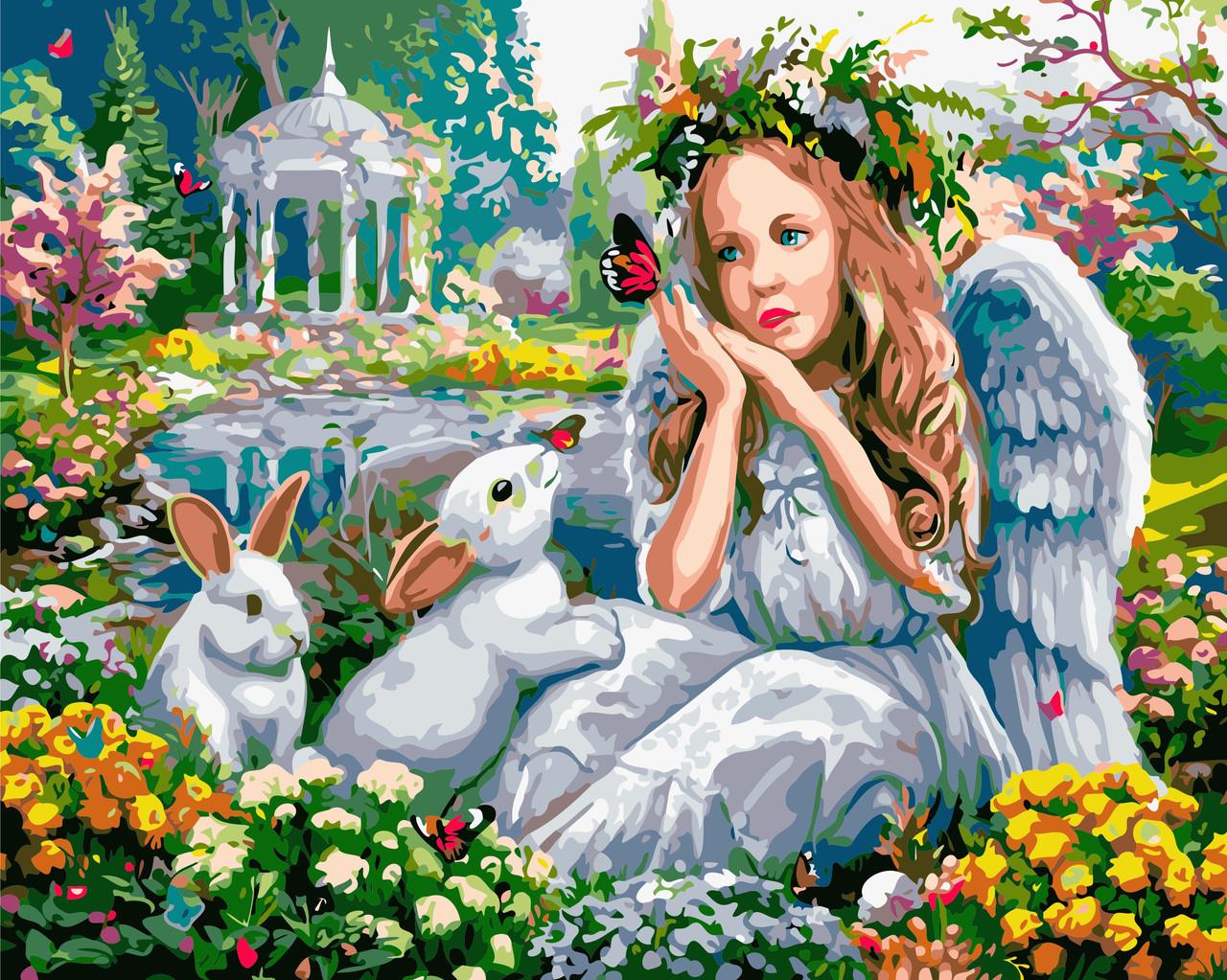Картина по номерам Мечтательный ангел ArtStory AS0581 40 х 50 см