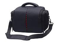 Фото сумка универсальная противоударная, цвет черный с красным ( код: IBF005BR )