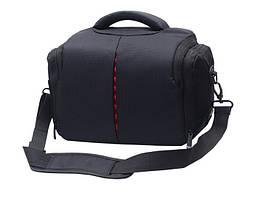 Фото сумка универсальная противоударная, цвет черный с красным