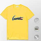 Мужская футболка Lacoste (ориг.бирка) желтый, фото 7