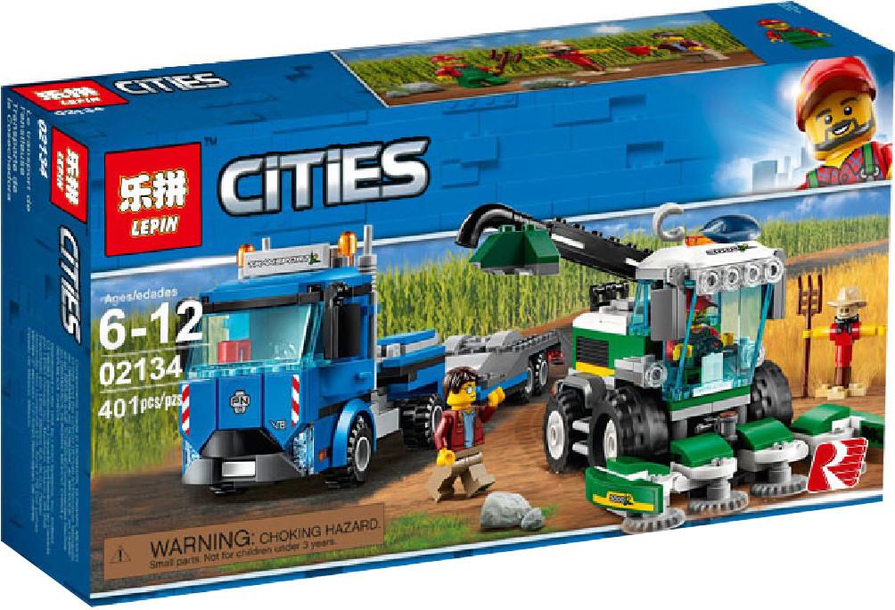 "Конструктор Lepin 02134 ""Кормоуборочный комбайн"" (аналог Lego City 60223), 401 дет"