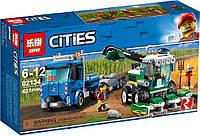 "Конструктор Lepin 02134 ""Кормоуборочный комбайн"" (аналог Lego City 60223), 401 дет, фото 1"