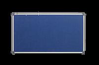 Доска текстильная, в алюминиевой рамке S-line – 1800x1000 мм; код – 141018 (синяя)