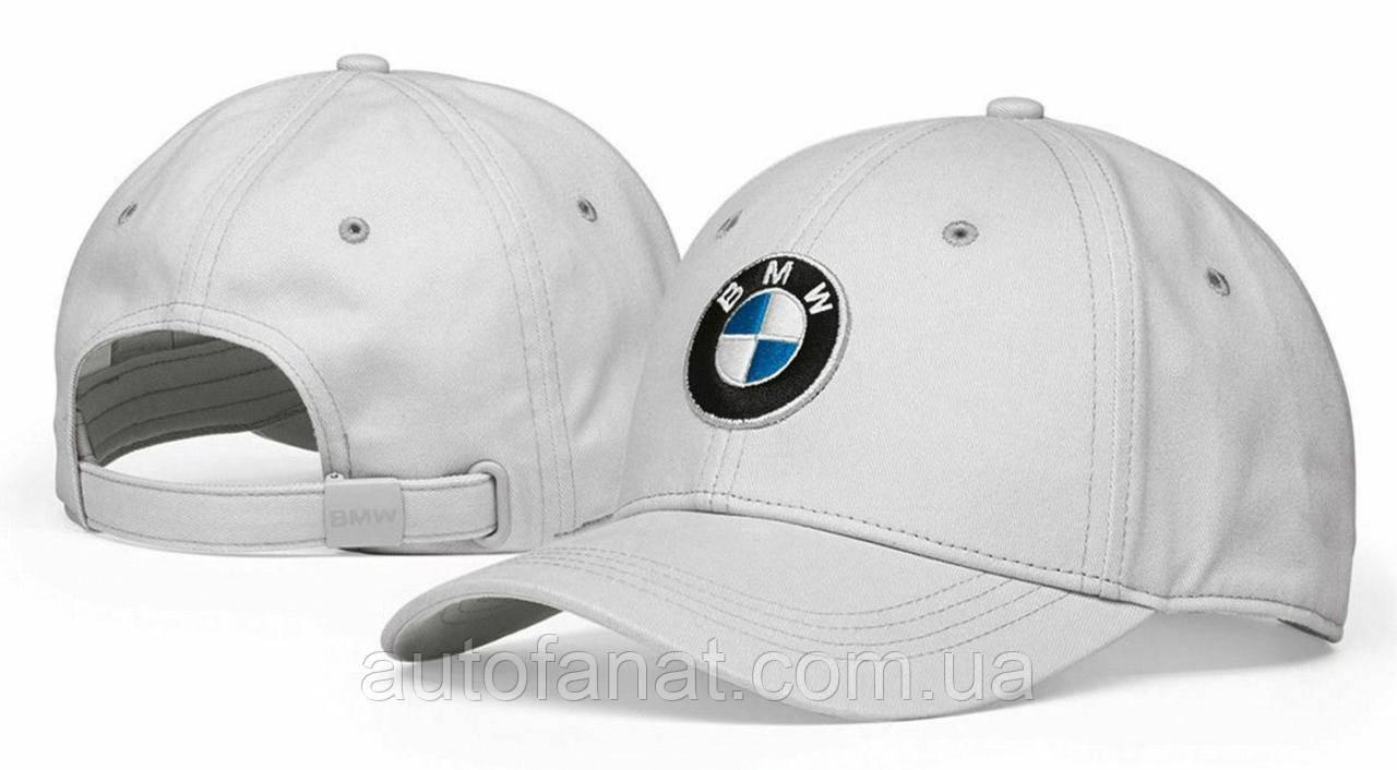 Бейсболка BMW Logo Cap, Grey оригинальная серая (80162454622)