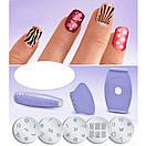 Маникюрный набор для узоров на ногтях Салон Экспресс | Cтемпинг для маникюра Salon Express, фото 5