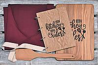 Набор для кухни. Фартук. Деревянный блокнот, разделочная доска и лопатка. (A00110), фото 1