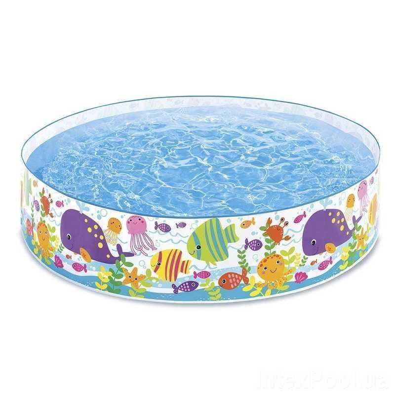 Каркасний дитячий басейн Intex 56452 183х38 см з рем.комплектом