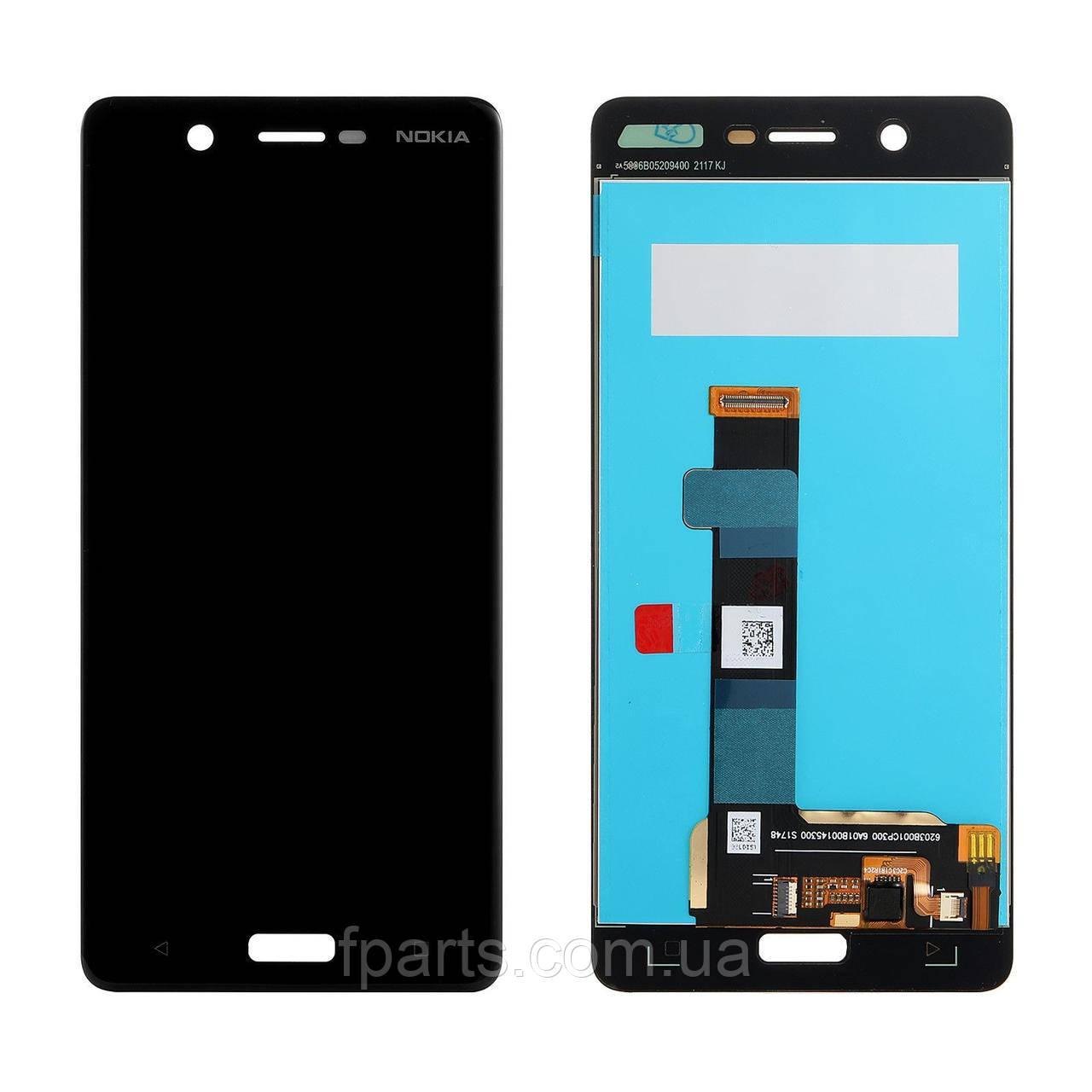 Дисплей для Nokia 5 Dual Sim (TA-1053) с тачскрином, Black (Original PRC)