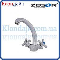 Смеситель для кухни Zegor DMT4-C WSL722 (Хром)