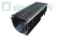 Комплект: Пластиковый лоток серии Maxi DN300 с чугунной решеткой кл. E