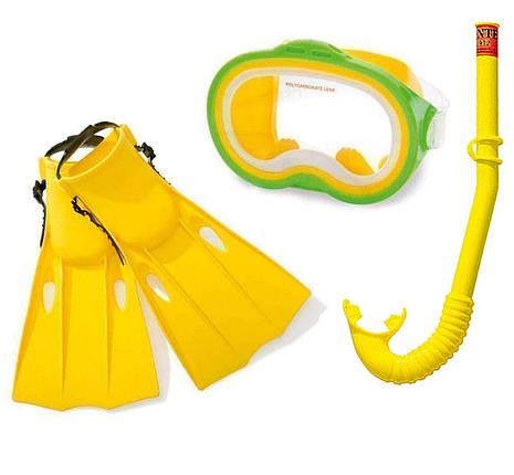 Набор для плавания Intex 55955 24-26 см детский комплект для дайвинга желтый, фото 2