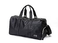 Мужская сумка с отделом для обуви из PU кожи, черный цвет ( код: IBM025B ), фото 1