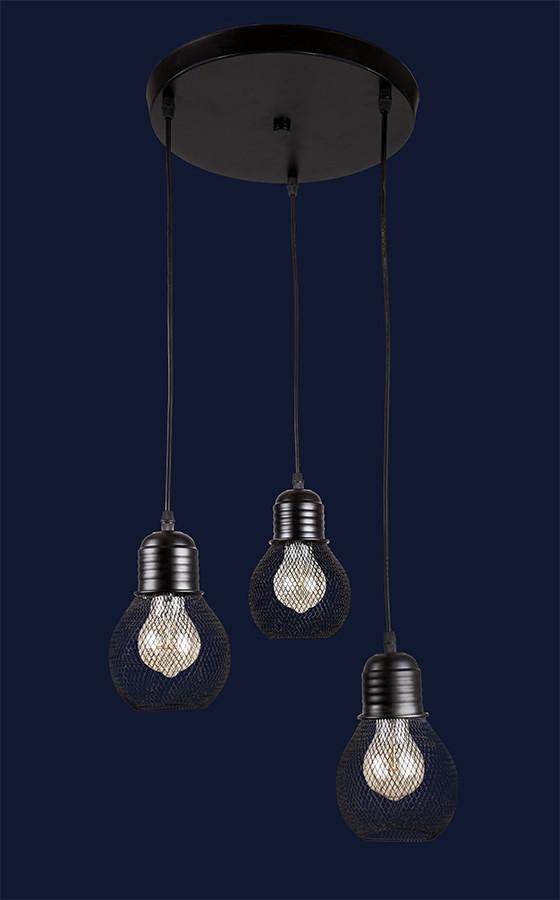 Светильник подвесной LOFT L907004F-3 BK(300)