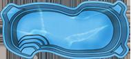 Бассейн стекловолоконный 6,2*3,3*1,2-1,6