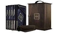 Книги элитная серия подарочные BST 860014 255х280х48 мм Изменившие мир (Patina Blu) (в 4-х томах) в кожаном переплете