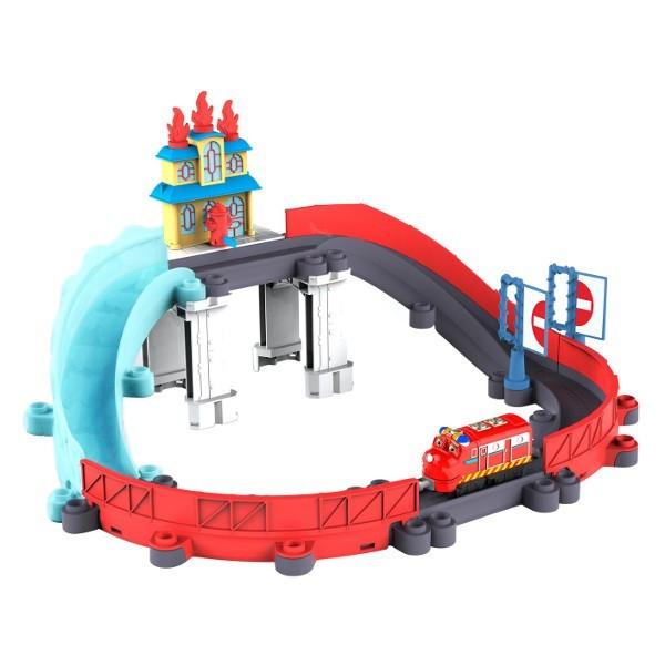 Залізниця Chuggіngton Die-Cast Tomy Порятунок від пожежі з паровозиком Вілсоном