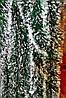 Мишура темно-зеленая (белый кончик), длина 1.5м, диаметр 100мм Харьков.
