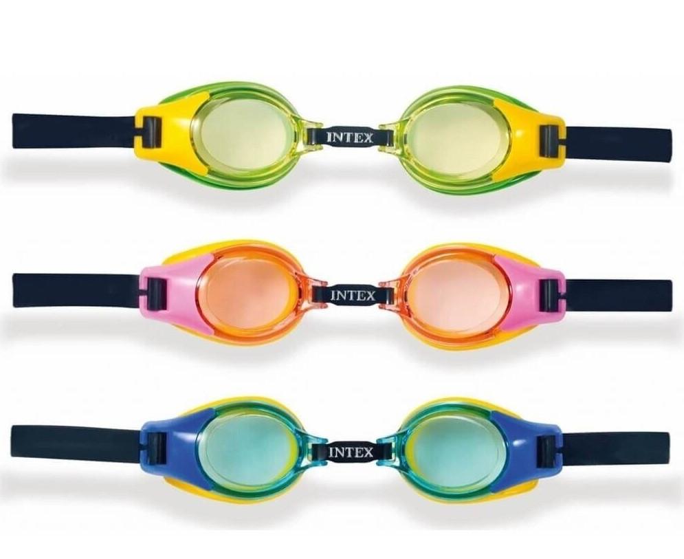 """Очки для подводного плавания """"JUNIOR"""" от 3 до 8 лет Intex 55601 гипоаллергенные"""
