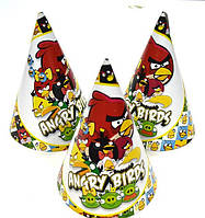 """Колпак праздничный 15 см.,  """"Angry birds"""""""