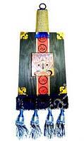 9290036 Панно настенное деревянное с кистями.