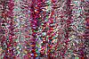 Мишура серебристая (серебро) голограмма (розовый кончик), длина 1.5м, диаметр 100мм Харьков.