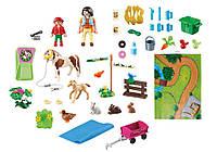 Playmobil 9331 Конюшня с милыми пони Игровой коврик с фигурками