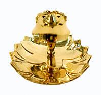 9370133 Подставка под благовония желтый метал Арт.26030