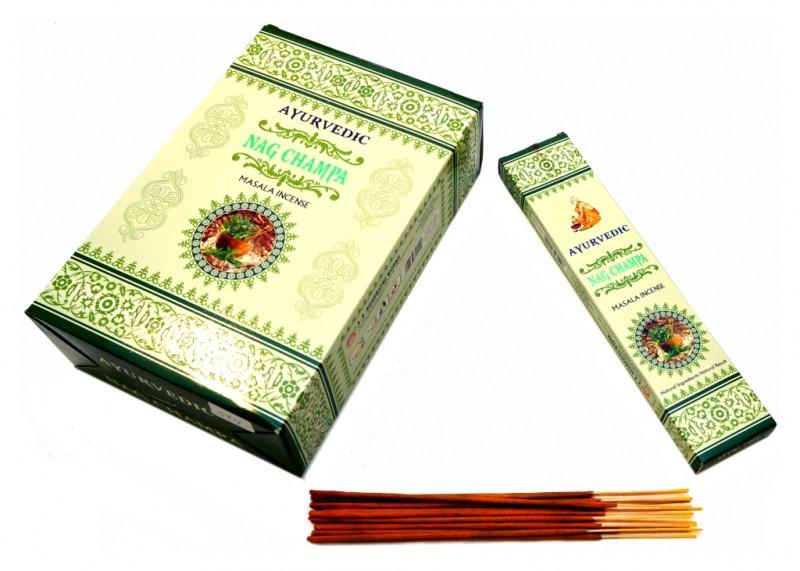 Ароматические палочки Ayurvedic Nag Champa (Наг Чампа)