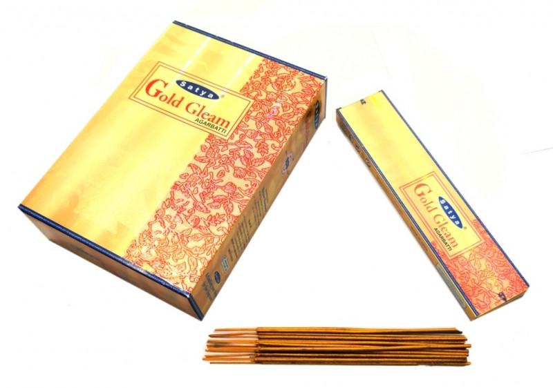 Ароматические палочки Satya Gold Gleam (Золотой блеск)