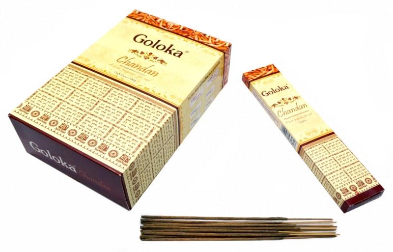 Ароматические палочки натуральные Goloka Chandan (Сандал)