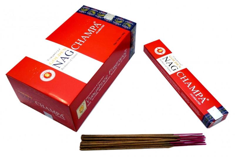 Ароматические палочки Vijayashree Golden Nag Champa