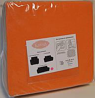 Чохол для дивана апельсиновий з фактурним візерунком, фото 1